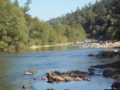 The Bear River near Colfax, California where I pan for gold. Free to the public, peaceful, clean water. Hmmmmm