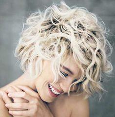 platinum curly hair