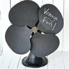 Upcycled Chalkboard Fan ~ Rescued Junk by old crow farm