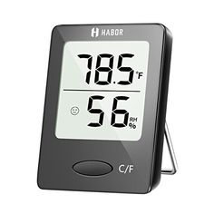 Habor Digital Hygrometer Indoor Thermometer Humidity Gauge Indicator Room Thermometer Accurate Temperature Humidity Monitor Meter for Home Office Greenhouse Mini Hygrometer X Inch) Wall Hanging Designs, Indoor Greenhouse, Temperature Measurement, Humidity Sensor, Temperature And Humidity, Digital Alarm Clock, Bluetooth Speakers