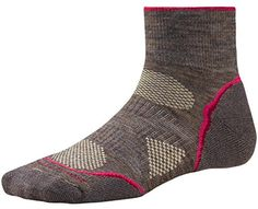 Smartwool Womens PhD Outdoor Light Mini Socks Taupe Medium  Past Season -- You can find out more details at the link of the image.