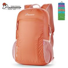 Mountaintop Bunny Outdoor Waterproof Folding Hiking Climbing Backpack Coral Red 25L *** MORE INFO @: http://www.best-outdoorgear.com/mountaintop-bunny-outdoor-waterproof-folding-hiking-climbing-backpack-coral-red-25l-2/