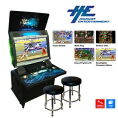 "Saturn 32"" LCD Arcade Machine With 2 Stools"