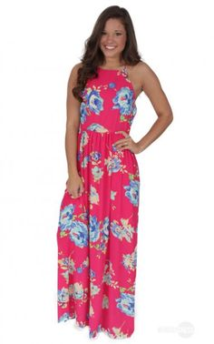Blessings Maxi Dress in Fuchsia