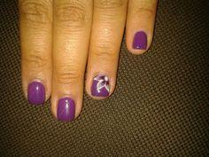 Nailart Purple flower