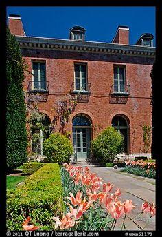 Garden and Filoli House. Woodside,  California, USA