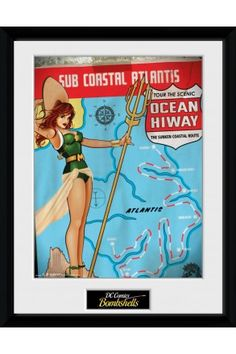 DC Comics Mera Framed Collector Print