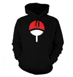Something Geeky PP - Uchiha Family Adult Hoodie - Inspired By Naruto Medium Jet Black: $36.99