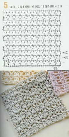 262 вязание крючком patterns, pattern Always aspired to be able to knit, yet undecided where to begin? This kind of Total Beginner Knitting Sequence is exactl. Hexagon Crochet Pattern, Crochet Diagram, Crochet Chart, Crochet Squares, Crochet Motif, Crochet Top, Crotchet Stitches, Crochet Stitches Patterns, Stitch Patterns