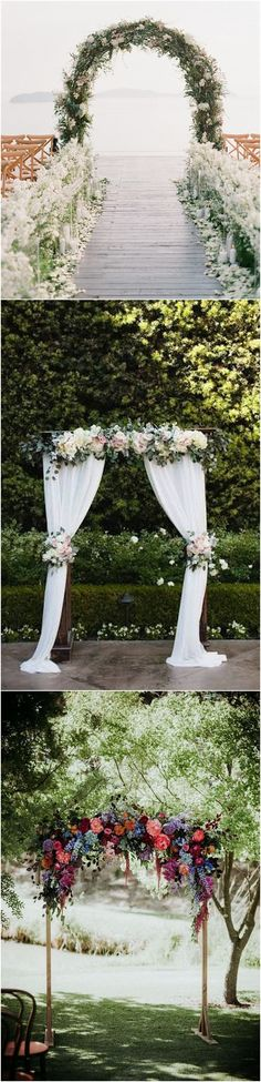 Floral wedding arch decoration ideas