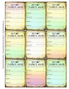 ATC Signature Backs Collage Sheet by Debrina Pratt - DP331