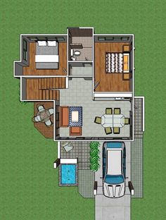 Two-Story Modern House With Three Bedrooms and a Very Spacious Terrace Second Story, Pinoy, Terrace, Projects To Try, Bedrooms, Country, Modern, House, Balcony