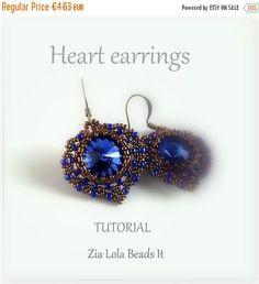 ON SALE Heart earrings tutorial English by ZiaLolaBeadsIt