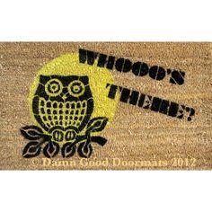 owls - front door mat