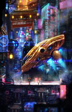 Sci-Fi Petaling | Futuristic #KualaLumpur | by rhinoting at deviantart