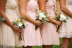 Blush mountain wedding at Louland Falls | Blush Bridesmaid dresses | blush tones bridesmaids bouquets | Logan Walker Photography - see more at http;//fabyoubliss.com