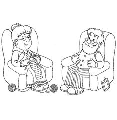Grandfather And Grandmother Lazing In Living Room Coloring Pages : Color Luna Coloring Sheets, Adult Coloring, Coloring Pages, Thanksgiving Table Settings, Online Coloring, Printable Crafts, Scrapbooking Layouts, Geometric Shapes, Art Lessons