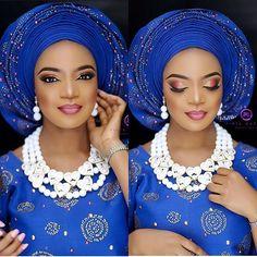 Transformed @opsydaisy28 #asoebispecial #asoebi #speciallovers #makeup #wedding  Glam. @tintsmakeuppro  Asooke @ariesbeadnasooke Beads @rochem_iyaileke