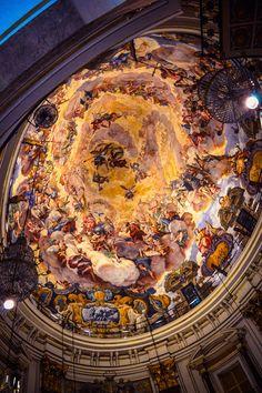 Basilica de la Virgen de los Desamparados, frescos de Antonio Palomino (Valencia - Spain)