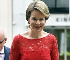 Queen Mathilde of Belgium attended a working lunch with representatives of leading European Institutions on the implementation of sustainable development in the European Union, on June 16, 2016, in Brussels.