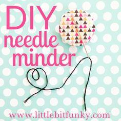 20 minute crafter - how to make a needle minder! Naaldenhouder, om te zorgen dat je je (borduur)naald ergens veilig kan wegleggen als je hem even niet gebruikt.