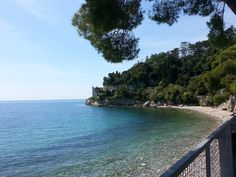 Castle Miramare, Trieste, Italy, another view of the beautiful sea surrounding it.