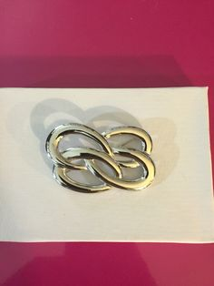 Silver Tone Infinity Brooch by Monet