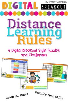 Using technology and problem solving skills, students decipher codes and complete activities to learn about the rules for Distance Learning. The activities are housed in a Google Slides file and students enter their codes into a locked Google Form. If you've been wanting to try an escape room or digital breakout with your students, this is a great place to start. Learning Resources, Teacher Resources, Technology Lessons, Problem Solving Skills, Fifth Grade, Escape Room, Educational Technology, Brittany, Lesson Plans