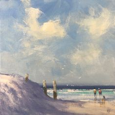 """""""Autumn at Three Poles beach - Beachscape"""" by Mike Barr. Paintings for Sale. Australian People, Australian Artists, Buy Art Online, Great Team, Paintings For Sale, Beautiful Artwork, Online Art Gallery, Wonderful Time, Impressionism"""