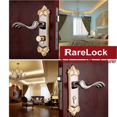 56.25$  Watch now - http://alivf6.worldwells.pw/go.php?t=32766761573 - LHX 2 Color European Style Furniture Handle For Bathroom Bedroom Interior Locks Wooden Door Lock Hardware Accessories a