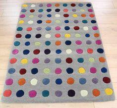 Delightfully Spotty The Dots Kids Round Rug From Bright Is A Plush Option Childrens Rugs Pinterest And Rounding