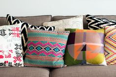 Love these gorgeous patterned pillows!