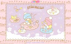 Little Twin Stars Wallpaper 2011 十二月桌布 日本 SanrioBB Present – Stargazer My Melody Wallpaper, Sanrio Wallpaper, Star Wallpaper, Pochacco, Sanrio Characters, Little Twin Stars, Rilakkuma, Stargazing, Hello Kitty