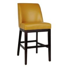 These look comfy, I wonder if they'd be too big, especially with a dining room table. Sondra Harvest Yellow Bar Stool | Kirklands
