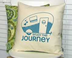 Cute. Caravan. Cushion.