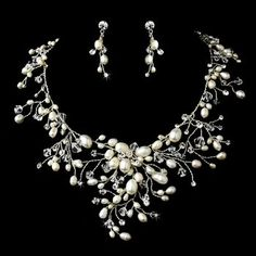 Dramatic Freshwater Pearl Wedding Jewelry! affordableelegancebridal.com