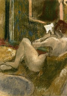 Nude from the Rear, Reading (c.1880-c.1885). Edgar Degas (French, 1834-1917).