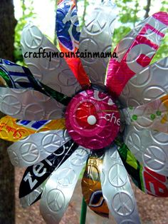 Embossed Peace Pop Can Flower Pot, Spring has SPRUNG. $13.00, via Etsy.