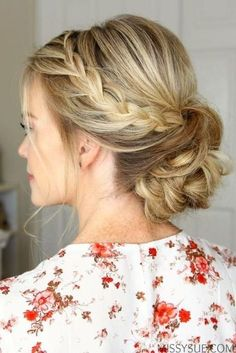 A … Rope Braid Low Bun – Swoon-worthy Summer Wedding Hairstyles – Southernliving. A subtle braid adds effortless interest to this updo. Bridal Hair Updo, Wedding Hair And Makeup, Hair Wedding, Wedding Beauty, Wedding Bride, Prom Makeup, Wedding Nails, Low Bridal Bun, Wedding Up Do