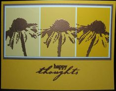 Paint chip Happy Thoughts by elizgmom - Cards and Paper Crafts at Splitcoaststampers