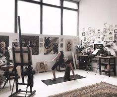 ∙ ∘ 🌄 ∘ ∙ art in 2019 painting studio, art studio desig Home Art Studios, Art Studio At Home, Artist Studios, Bureau D'art, Creative Studio, Art Studio Design, Design Art, Cool Office Space, Dream Studio