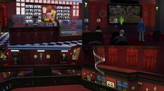 The Sims 4: Cinema Lot and Custom Content! So, I did this set for two reasons: 1) a few weeks ago, an anon asked me to do a cinema set and 2) to compliment the new Movie Hangout Stuff set :) I bring...