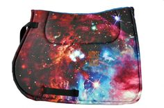 Horse saddle pads pony size all purpose GALAXSY print