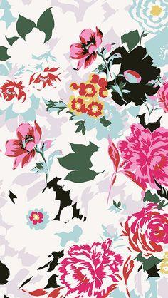 Hermoso decomural estampado en flores...