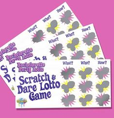 Add an element of surprise and risk with our Naughty Bachelorette Party Dare Lotto Cards! Risque and just a little wild, these fun scratch-offs are a great way to keep the good times rolling all night!