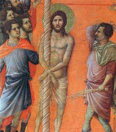 Duccio di Buoninsegna - Maestà - Retro - Flagellazione, dettaglio - 1308-11 - Tempera e oro su tavola - Museo dell'Opera del Duomo, Siena