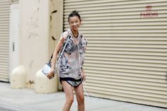 Xiao Wen Ju tijdens New York Fashion Week - New York State Of Mind - Street Chic - Fashion