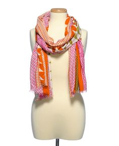 Saachi SMU Exclusive Linear Patchwork Oblong Scarf