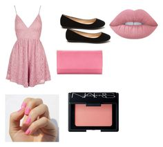 """Pink"" by ap-and-kim ❤ liked on Polyvore featuring interior, interiors, interior design, home, home decor, interior decorating, Topshop, Croft & Barrow, NARS Cosmetics and Lime Crime"