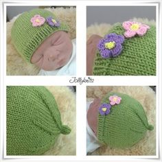 Looking for your next project? You're going to love Knitting Pattern Baby Hat Vivi by designer Jollyknits. Baby Hats Knitting, Free Knitting, Knitted Hats, Crochet Hats, Love Knitting Patterns, Baby Patterns, Crochet Lace Edging, Diy Crochet, Pattern Library